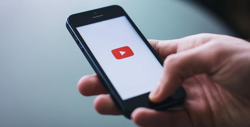 YouTube logo on a mobile phone screen wallpaper