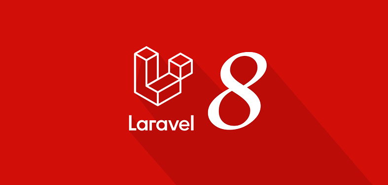 Laravel 8 logo wallpaper