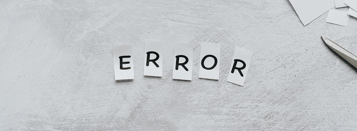 error in programming to solve