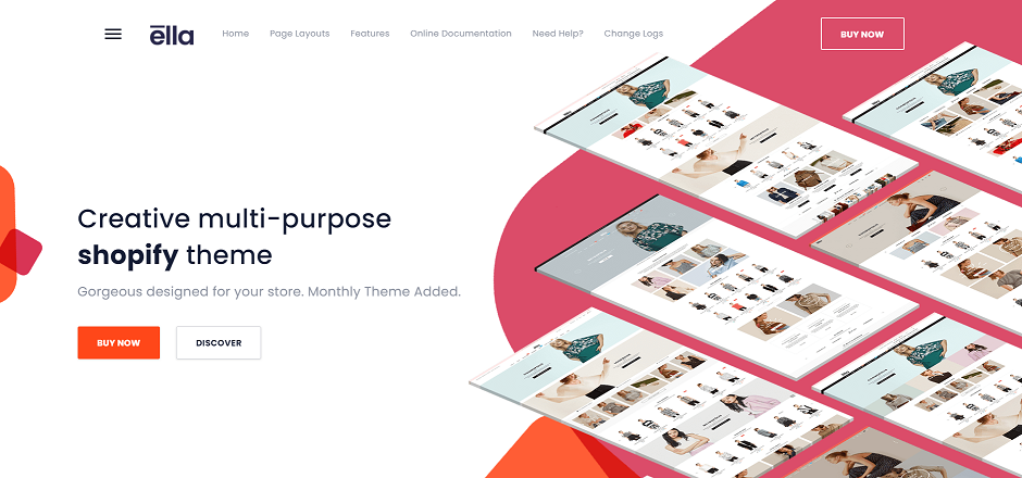 Best Creative Shopify Theme in 2020 Ella homepage