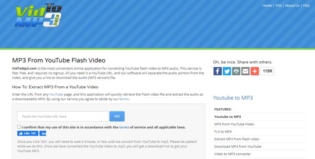 vidtomp3 youtube downloader