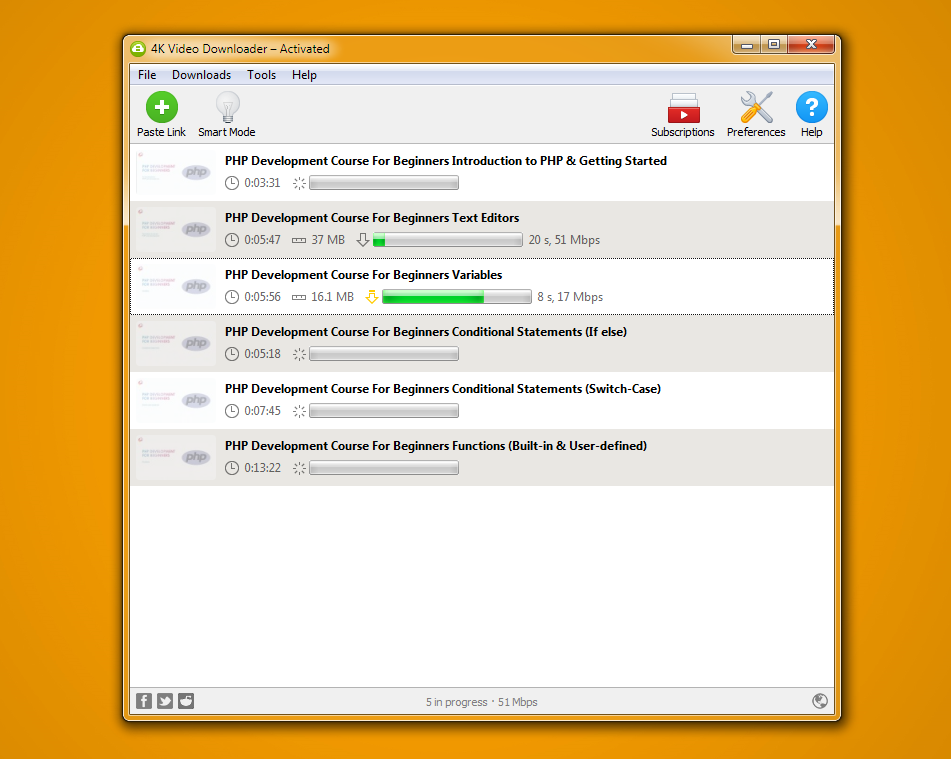 4K Video Downloader to download free courses online